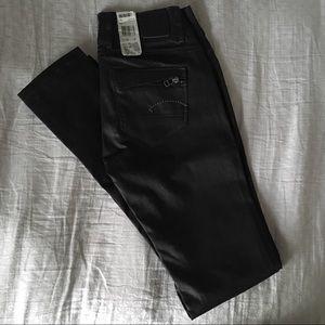 G-Star Raw Black Coated Skinny Jeans